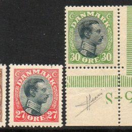 1918 Danimarca: Effigie di Cristiano X (N°105/16+111a)