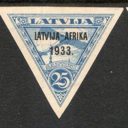 1933 Lettonia: Posta Aerea - primo volo Lettonia - Gambia (N°25/29)