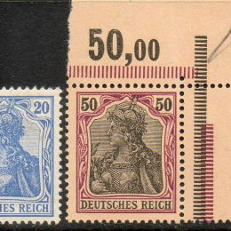1902 Germania Impero: allegoria della Germania (N°66/75)