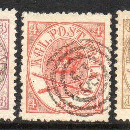 1864 Danimarca: stemma in doppio ovale (N°11/15)