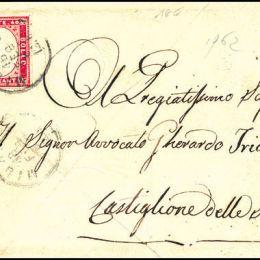 1862 Sardegna 40c. rosa carminio (N°16E)