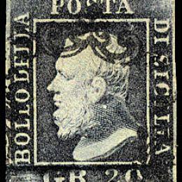 1859 Sicilia 20 gr. grigio ardesia (N°13)