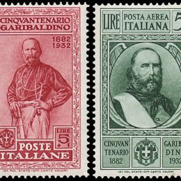 1932 Italia Regno: Cinquantenario della morte di Garibaldi (N°315/24+A) s.cpl.