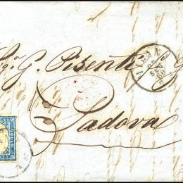1860 Sardegna 20c. azzurro grigio (N°15Cc)