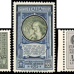 1932 Italia Regno: Dante Alighieri (N°303/14+A) s. cpl.