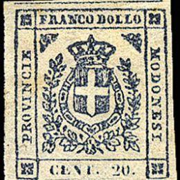 1859 Modena Governo Provvisorio 15c. ardesia violaceo (N°15)