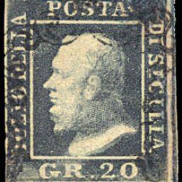 1859 Sicilia 20gr. grigio ardesia (N°13)