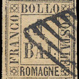 1859 Romagne 1b. bruno grigio (N°2)