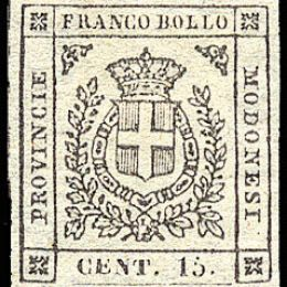 1859 Modena Governo Provvisorio 15c. grigio (N°14)