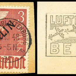 1948 Germania Berlino: francobolli delle zone A.I.S. soprastampati in nero (N°1A/20A) s. cpl.