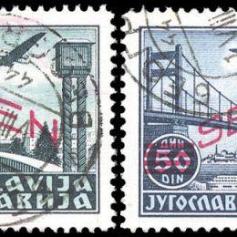 1941 Serbia Occup. Tedesca: P.A. soprastampati in rosso (N°11/15) s. cpl.