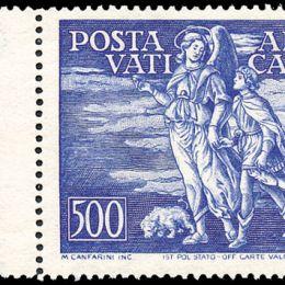 1948 Vaticano: Posta Aerea - Tobia (N°16/147) s. cpl. ben centrata.