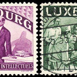 1935 Lussemburgo: soccorso agli intellettuali emigrati (N°259/73) s. cpl.