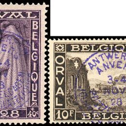 1928 Belgio: Esposizione Filatelica di Anversa (N°266A/K) s. cpl.