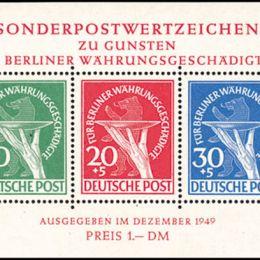 1949 Berlino: Foglietti - riforma monetaria (BF1)