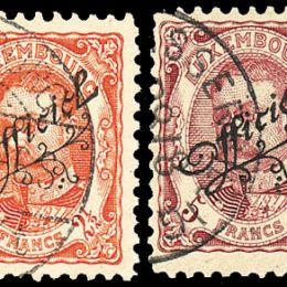 "1908 Lussemburgo: Servizi - soprastampati ""Officiel"" (N°96/113) s. cpl."