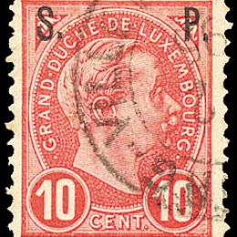 1892 Lussemburgo: Servizi - soprastampati S.P. (N°77/81) s. cpl.