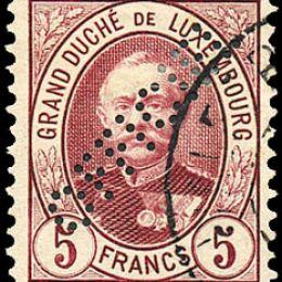 "1899 Lussemburgo: Servizi - francobolli perforati ""OFFICIEL"" (N°82/95) s. cpl."