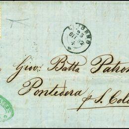1862 Italia Regno: 10c. arancio brunastro (N°1i)