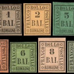 1859 Romagne: l'emissione (N°1/9) s. cpl.