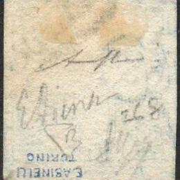 """1860 Napoli: 1/2 t. azzurro (N°16) """"Crocetta""""."""