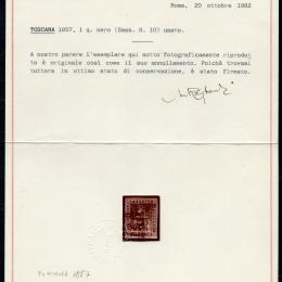 1857 Toscana 1q. nero (N°10)