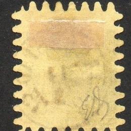 1866 Finlandia: 10p. nero su camoscio (N°7)