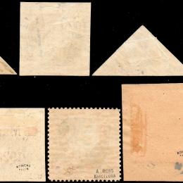 """1923 Estonia """"Posta Aerea"""": Aereo in volo  (N°2/6+3a/5a)"""
