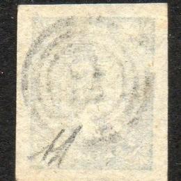 1855 Norvegia: stemma con leone rampante 4sk. azzurro (N°1)
