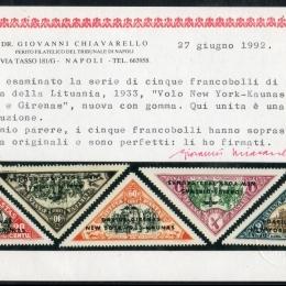 "1934 Lituania ""Posta Aerea"": volo New York - Kaunas di Daurius e Girenas (N°83A/83E)"