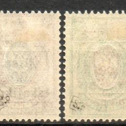 1919 Lituania del Sud (Grodno): francobolli di Russia con soprastampa bilingue (N°1A/8)