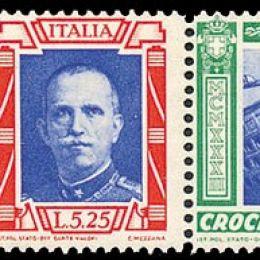 """1933 Italia Regno: Posta Aerea - Crociera Nord Atlantica, trittici """"I-MIGL"""" (N°51K/52K) s.cpl."""