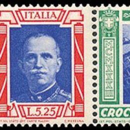 """1933 Italia Regno: Posta Aerea - Crociera Nord Atlantica, trittici """"I-VERC"""" (N°51T/52T) s.cpl."""